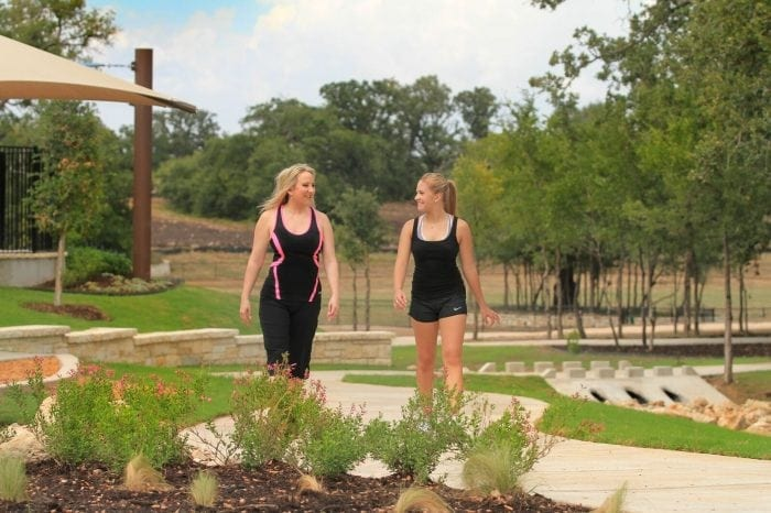 MorningStar commuinty features a trail system for residents who want to take a walk and enjoy the outdoors