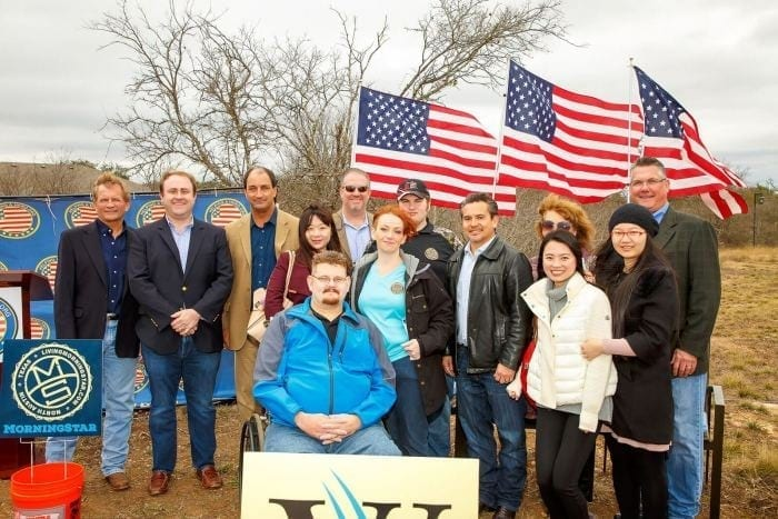 Helping A Hero disabled veteran revieces a new home courtesy of MorningStar and Westin Homes